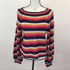 NWT Crave Fame Colorful striped sweater M